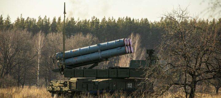 В Курской области расчеты ЗРК «Бук-М3» уничтожили на учениях БПЛА условного противника