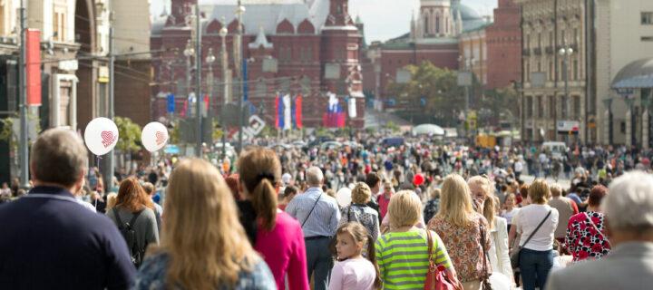 Население Москвы каждые десять лет растет на 1 млн человек