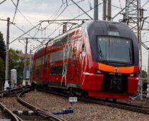 На МЦК запустили двухэтажный поезд