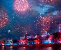 В День защитника Отечества небо Москвы украсят 10 тысяч салютных залпов