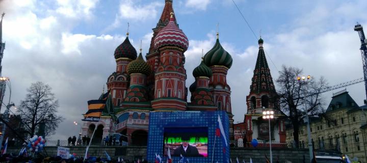 Более 100 тыс человек пришли в Москве на митинг-концерт «Мы вместе»