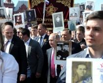Более 700 тысяч человек приняли участие в акции «Бессмертный полк» в Москве