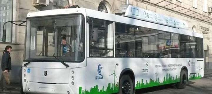 Первый в России электробус «КАМАЗ» проходит финальные испытания в «Сколково»