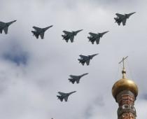 Первая репетиция воздушной части Парада Победы прошла над Москвой