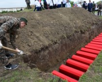 В «Долине смерти» в Калужской области перезахоронили останки более 300 солдат