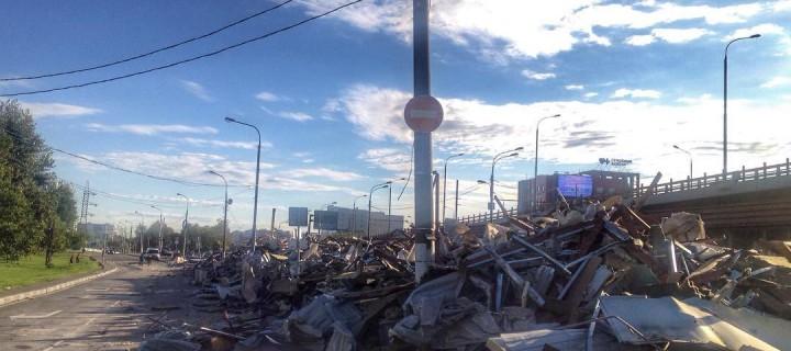 Очередная волна сноса самовольных построек прошла в Москве минувшей ночью