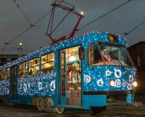 Три новогодних трамвая вышли на столичные маршруты
