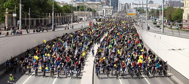 Московский велопарад собрал рекордные 40 тысяч участников