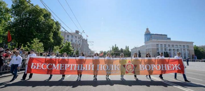 В рядах «Бессмертного полка» в Воронеже прошли более 43 тыс. человек