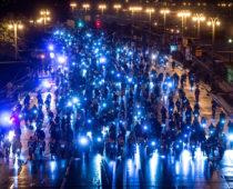 Участниками третьего ночного велопарада в Москве стали 10 тысяч человек
