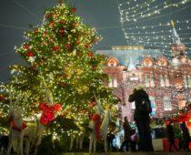 К Новому году в Москве установят 268 ёлок