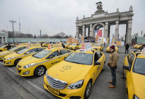 За два года число легальных такси в Москве достигнет 70 тысяч
