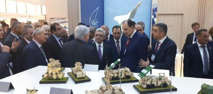 Серж Саргсян оценил российские средства ПВО на открытии выставки ArmHiTec-2018