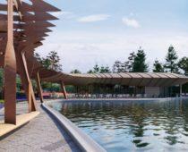 Парк с перголой и озером появился в Москве на территории бывшего завода ЗИЛ