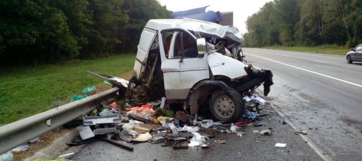 В результате столкновения четырех грузовиков под Тулой погибли два человека