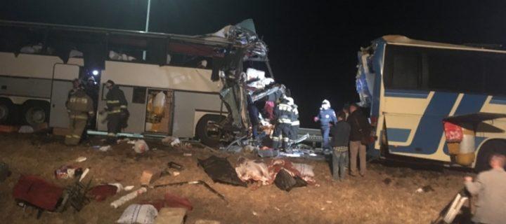 В столкновении двух автобусов на трассе М4 «Дон» погибли пять человек