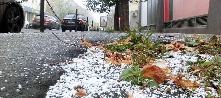Первый снег выпал в Москве 26 октября