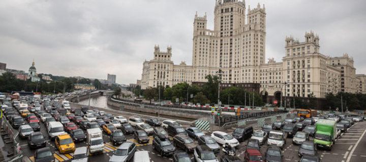 За год число автомобилей в Москве выросло на 160 тысяч