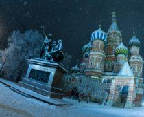 Слабый снег и легкий мороз ожидают москвичей в новогоднюю ночь
