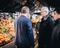 Мэр Москвы открыл круглогодичную ярмарку в Кузьминках