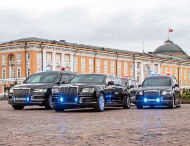 Лимузины и микроавтобусы AURUS пополняют Гараж особого назначения