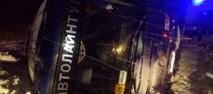 Экскурсионный автобус с детьми разбился под Тулой