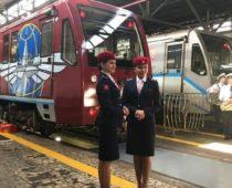 Тематический поезд запустили в московском метро к юбилею Минтранса РФ