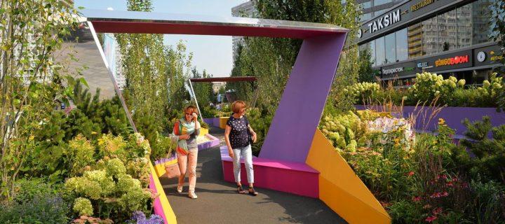 Монтаж пяти садов фестиваля «Цветочный джем» пройдет в Москве с 17 по 19 июня