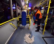 В общественном транспорте Подмосковья будут проводить ежедневную дезинфекцию