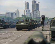 В Москве проходит первая совместная репетиция парада Победы