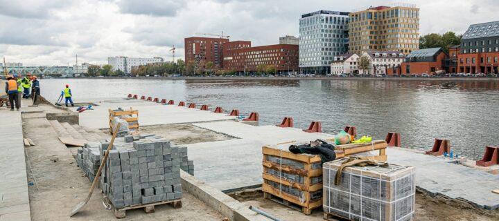 Более 120 км набережных Москвы-реки благоустроят к 2024 году