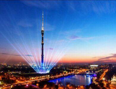 Останкинскую и другие телебашни празднично подсветят в День космонавтики